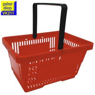 Einkaufskorb 28 Liter in rot mit einem Tragegriff
