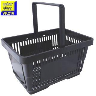 Einkaufskorb 28 Liter in schwarz mit einem Tragegriff