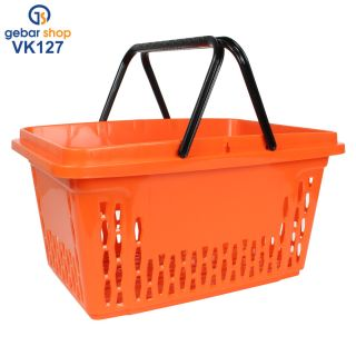 Einkaufskorb 20 Liter in orange mit zwei Tragegriffe