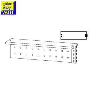 VARIUS Anbauaufsatz AM100 Verkaufstresen Stahlfront