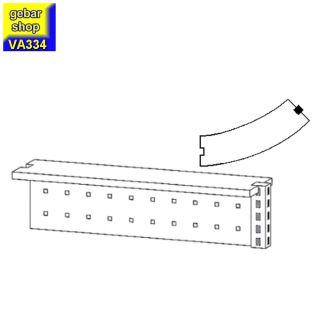 VARIUS Anbauaufsatz AB 45° Verkaufstresen Stahlfront