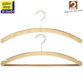 MAWA Holz Kleiderbügel Set01