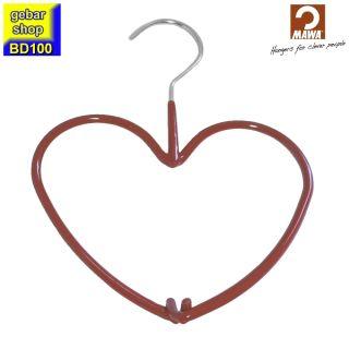 MAWA Metall Accessoirebügel Sweetheart Herz, rot