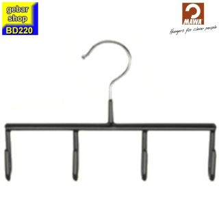 MAWA Metall Gürtelbügel GH mit 4 Haken, schwarz