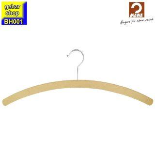 MAWA Holz Kleiderbügel Standard 42, Buche roh