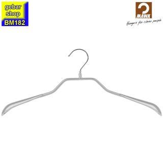 MAWA Metall Kleiderbügel Prestige 46/G, silberfarben