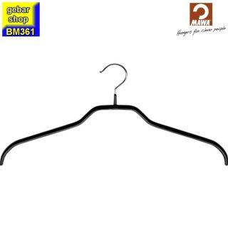MAWA Kleiderbügel Silhouette 41/F, schwarz