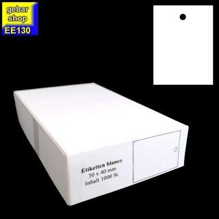 Kartonetiketten 30x40mm blanco 1.000 Stück/Karton