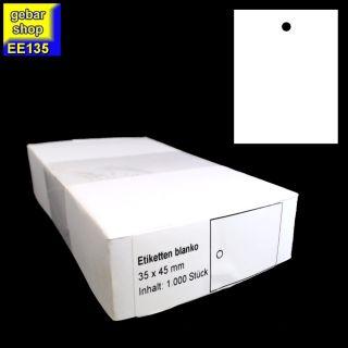 Kartonetiketten 35x45mm blanco 1.000 Stück/Karton