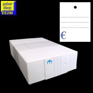 Kartonetiketten 35x45mm liniert und Eurozeichen 1.000
