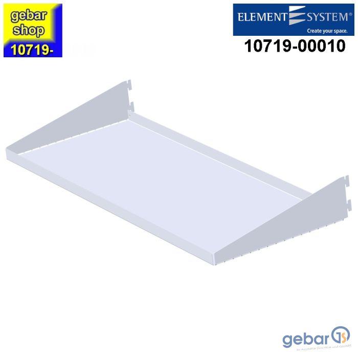 10719-00010= 2x Regal Faltfachboden 800x300 mm weiß Classic 50 Element System