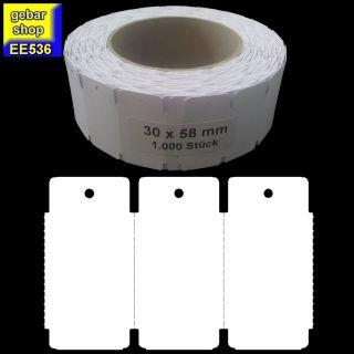 Endlosetiketten 30x58mm blanco 1.000 Stück/Rolle