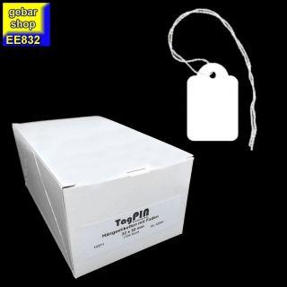 Fadenetiketten mit Faden 32x50mm 1.000 Stück/Karton