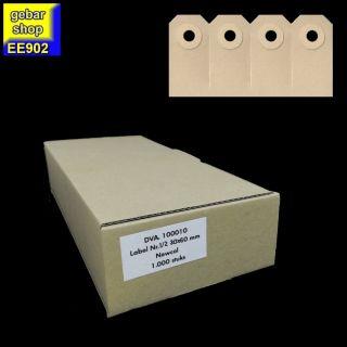 Manila Etiketten 30x60mm zu 4 Stück Pappöse 1.000 Stk
