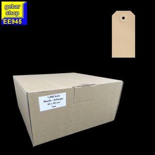 Manila Etiketten 45x90mm Pappöse 1.000 Stück/Karton