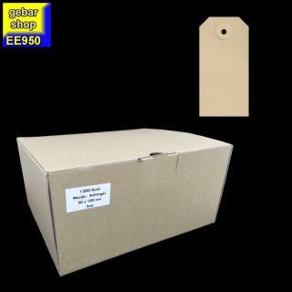 Manila Etiketten 50x100mm Pappöse 1.000 Stück/Karton