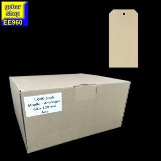 Manila Etiketten 60x120mm Pappöse 1.000 Stück/Karton