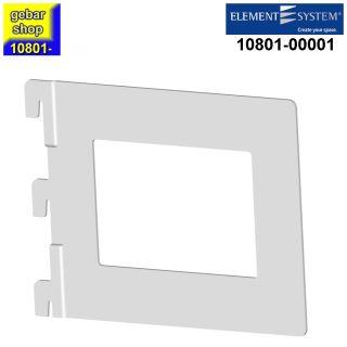 10801-00001= Bücherbügel Karthago T143 mm weiß Element System Bücherhalter Bügel