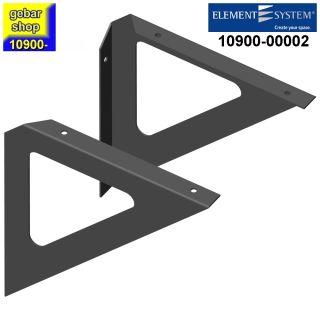 Element System Dekokonsole Triangel 190x190 schwarz