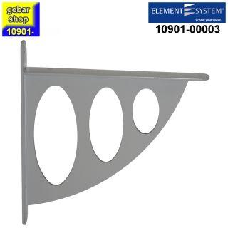 10901-00003= Dekokonsole Salida 200x190 mm weißalu Element System Winkel Konsole