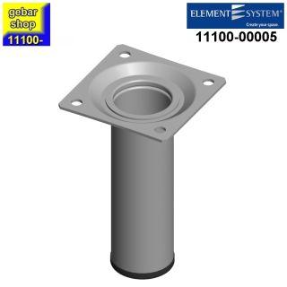Element System Stahlrohrfuß rund Ø30  H 100mm weißalu