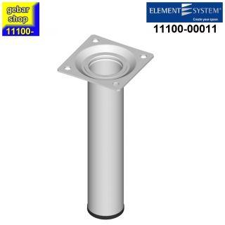 Element System Stahlrohrfuß rund Ø30  H 150mm weiß