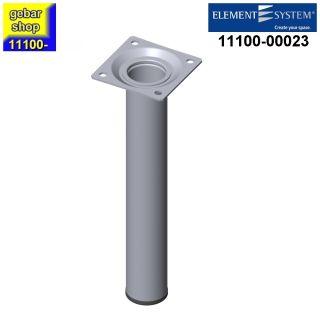 Element System Stahlrohrfuß rund Ø30  H 200mm Chrom