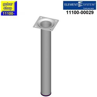 Element System Stahlrohrfuß rund Ø30  H 250mm weißalu