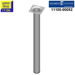 Element System Stahlrohrfuß rund Ø30  H 400mm weißalu