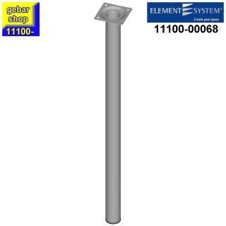 Element System Stahlrohrfuß rund Ø30  H 600mm weißalu