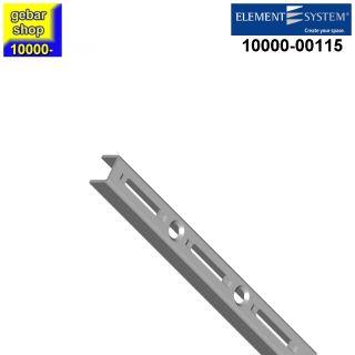 Element System 50 Wandschiene 1-reihig H 145 mm weißalu