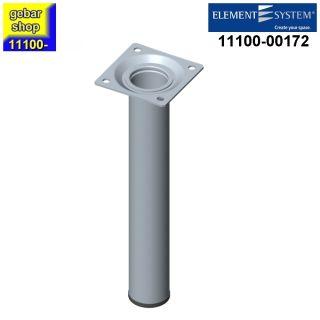 Element System Stahlrohrfuß rund Ø30 H 200 Edelstahloptik