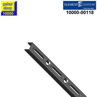 Element System 50 Wandschiene 1-reihig H 145 mm schwarz