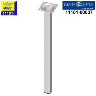 Element System Stahlrohrfuß eckig Höhe 400mm weiß