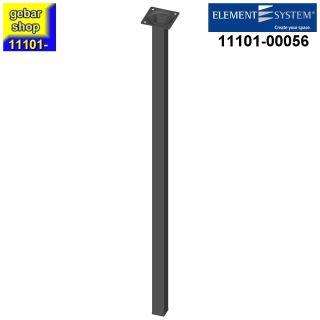 Element System Stahlrohrfuß eckig Höhe 700mm schwarz