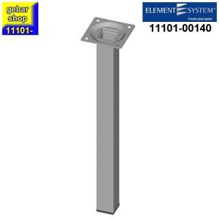 Element System Stahlrohrfuß eckig Höhe 300mm weißalu