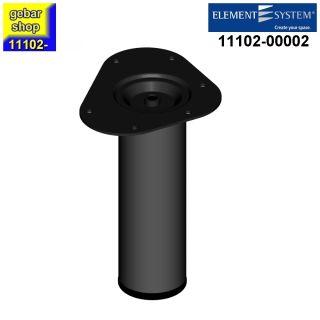 Element System Stahlrohrfuß rund Ø60  H 200mm schwarz