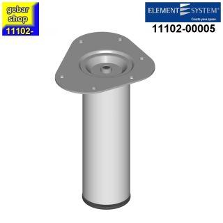 Element System Stahlrohrfuß rund Ø60  H 200mm weißalu