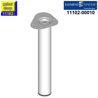 Element System Stahlrohrfuß rund Ø60  H 400mm weiß