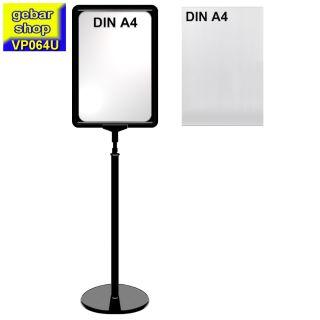 Plakatständer Set0 Rahmen U-Tasche DIN A4 schwarz