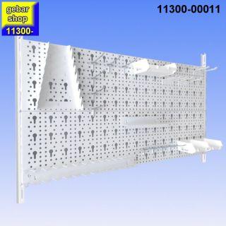 Werkzeugwand 23 teilig Lochwände 800x400 weiß mit Haken