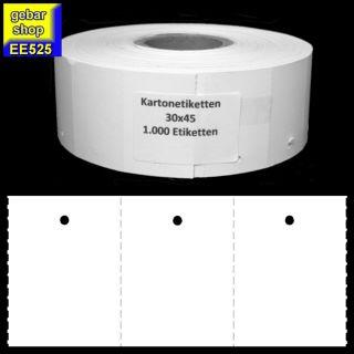 Endlosetiketten 30x45mm blanco 1.000 Stück/Rolle