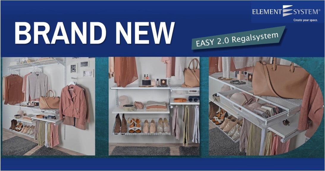 NEU - EASY 2.0 Regalsystem Raster 50 und 32