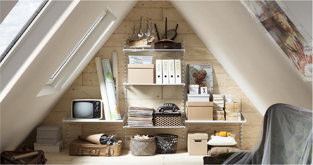 Element System Regale für Ihre Dachwohnung